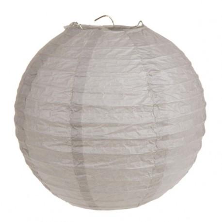 Lanterne boule chinoise papier taupe 30 cm les 2