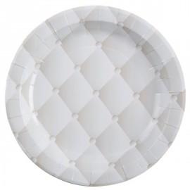 Assiettes Capitonnées Carton Blanc 23 cm les 10