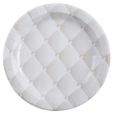 Assiette Capitonnée Carton Blanc 23 cm les 10