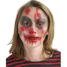 Masque Halloween transparent femme