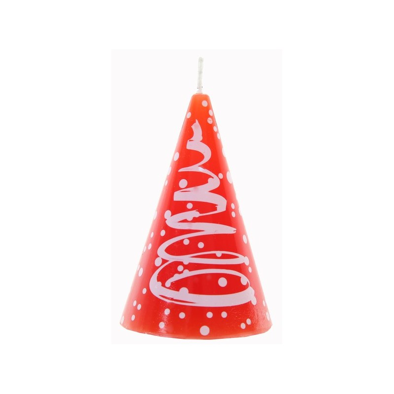 Bougie sapin de no l rouge blanc 7 5 cm for Decoration sapin de noel rouge et blanc