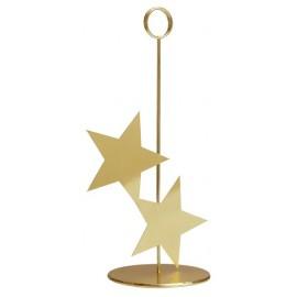 Marque-table étoile or en métal 26 cm