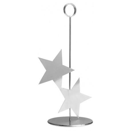 Marque-table étoile argent en métal 26 cm