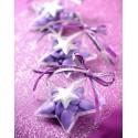 Boîtes à dragées étoile transparente 9.6 cm les 4