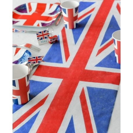 Chemin de table Angleterre Union Jack intissé 5 M