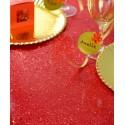 Chemin de table tulle pailleté rouge 5 M