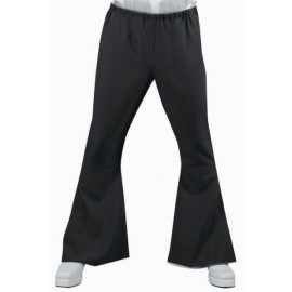 Déguisement disco hippie pantalon noir homme deluxe
