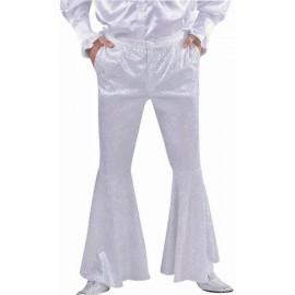 Déguisement Pantalon Disco Blanc Paillettes Homme Deluxe