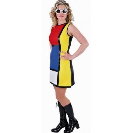 Déguisement 60's robe Modern Art femme deluxe