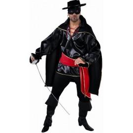 Déguisement bandit noir homme luxe
