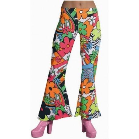 Déguisement Hippie Pantalon Woodstock 60's-70's Femme
