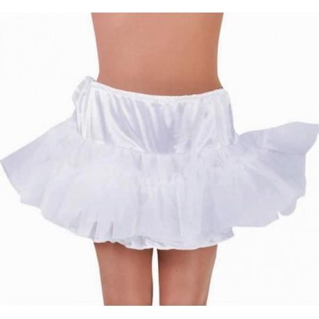 Costume Jupon Court Blanc à Volants en Tulle Luxe Femme