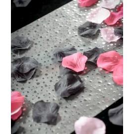 Petales noires en tissu avec feuilles les 100