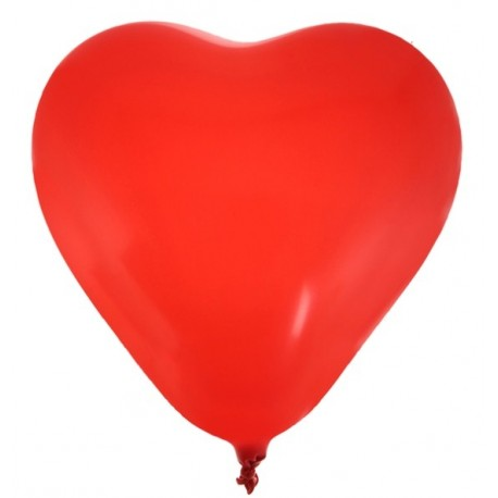 Ballons coeur rouge 25 cm les 8