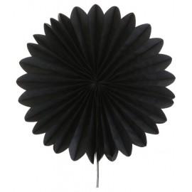Eventails papier noir 20 cm les 2