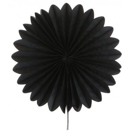 Eventail papier noir 20 cm les 2