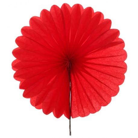 Eventail papier rouge 20 cm les 2