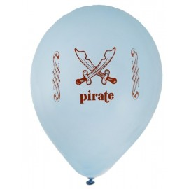 Ballons pirate bleu ciel 23 cm les 8