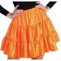 Déguisement jupe orange à volants satin fille