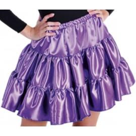 Déguisement jupe violette à volants satin fille