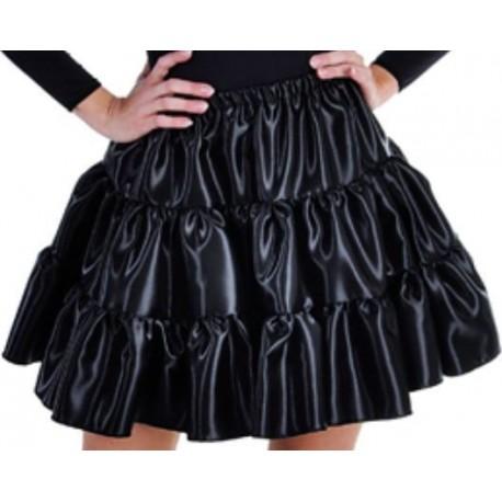 Déguisement jupe noire à volants satin fille