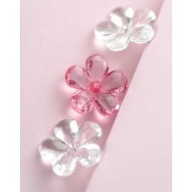 Perle fleurs transparente couleur les 10