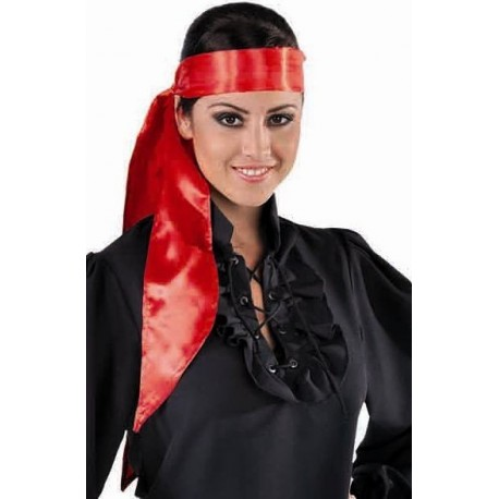 Foulard rouge satin deluxe mixte