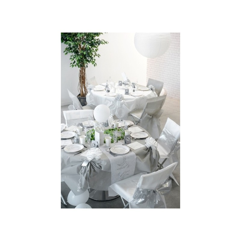 Chemin de table colombe intiss blanc 5 m for Chemin de table plastique