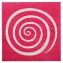 Serviettes de table spirale fuchsia blanc les 20