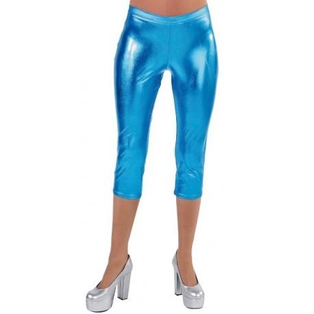 Déguisement Legging court turquoise spandex Femme Luxe