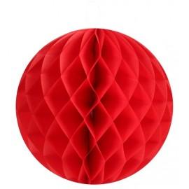 Boules papier alvéolé rouge 20 cm les 2