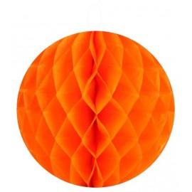 Boules papier alvéolé orange 20 cm les 2