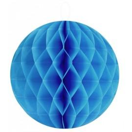 Boule papier alvéolé turquoise 20 cm les 2