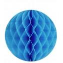 Boules papier alvéolé turquoise 20 cm les 2