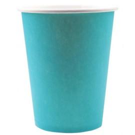 Gobelets carton Turquoise uni les 10