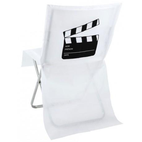 Housse de chaise cinéma intissé Blanc les 10