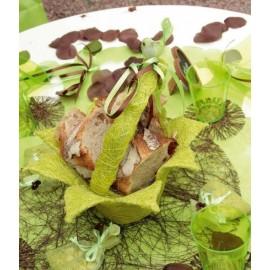 Panier en fleur sisal vert anis