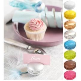 Macaron marque place couleurs festives 5 cm x2