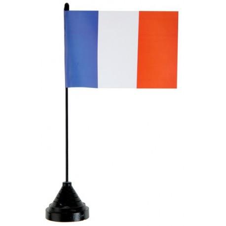 Drapeau de table France 25 cm
