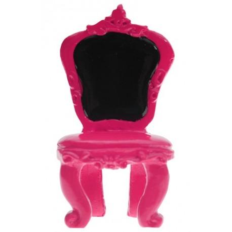 Marque place chaise baroque fuchsia les 2