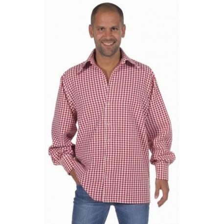 Chemise vichy rouge homme deluxe déguisement