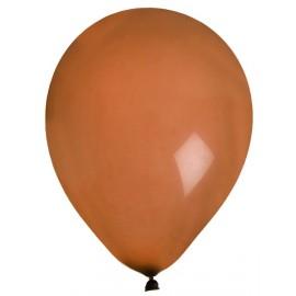 Ballons couleur chocolat uni 23 cm les 8 ballons de baudruche