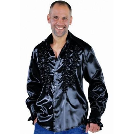 Déguisement chemise disco noire homme luxe