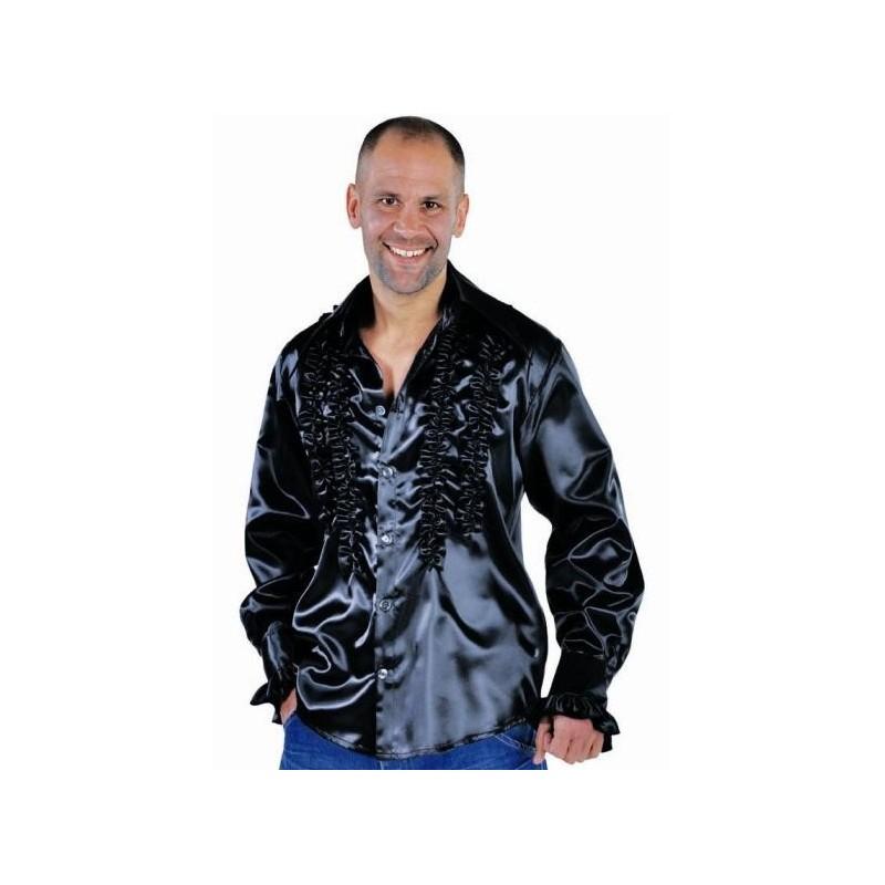 d guisement chemise disco noire homme luxe d guisement disco. Black Bedroom Furniture Sets. Home Design Ideas