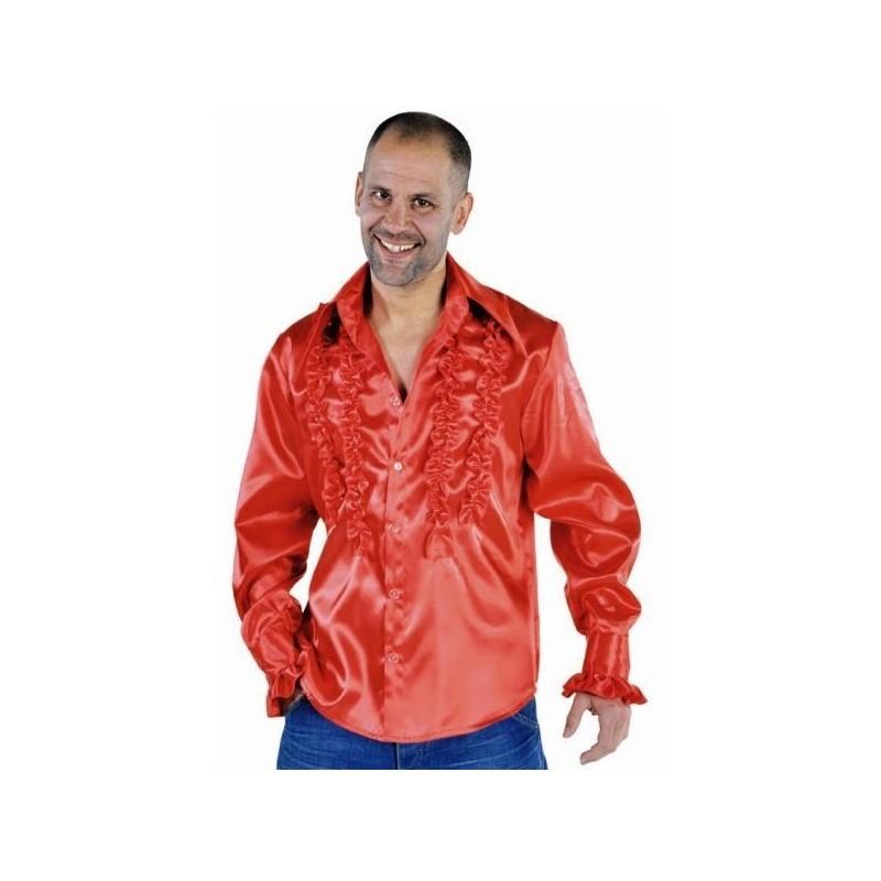 d guisement chemise disco rouge homme luxe d guisement disco. Black Bedroom Furniture Sets. Home Design Ideas