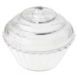 Boîtes à dragées cupcake transparent 5 cm les 4