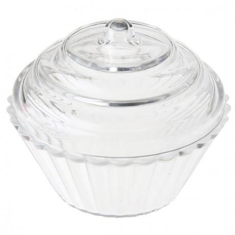 Boîte à dragées cupcake transparent 5 cm les 4