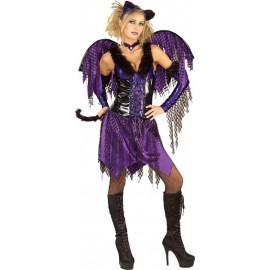 Deguisement ANGE FEMME Purrfect Kitty violet et noir