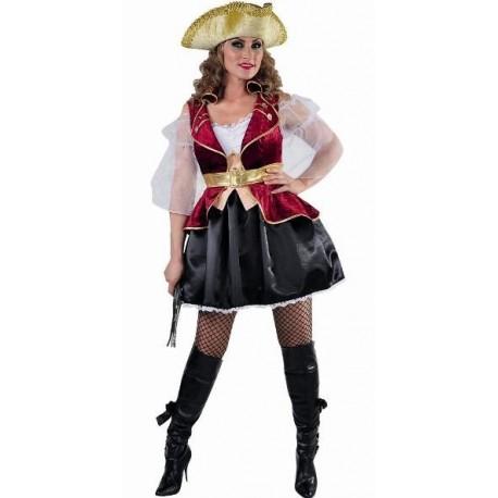 Déguisement Boucanier Pirate Femme Luxe