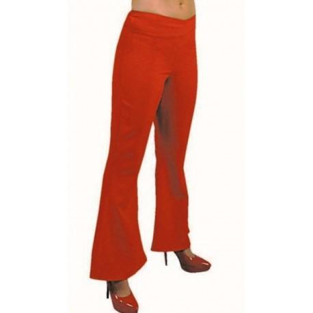 Déguisement pantalon hippie rouge femme luxe